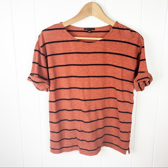 159bf910664 Theory Tops | 330striped Short Sleeve T Shirt | Poshmark